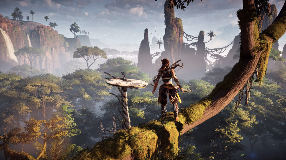Horizon Zero Dawn displayed in HDR 10. This is a truly phenomenal game that comes to life in UHD HDR. Hard to put down once you get going.