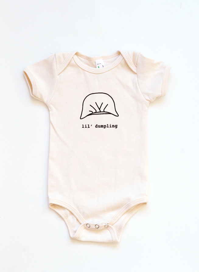 Dumpling Onesie - Organic Cotton Natural Color � Plate and Pencil