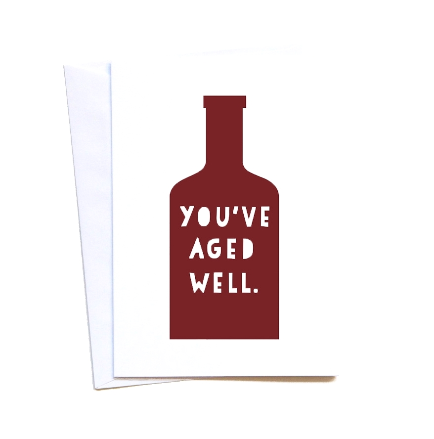 Wine Lovers Birthday Card Plate Pencil