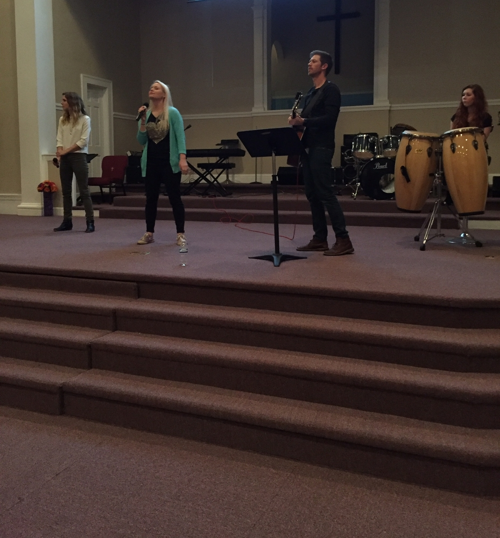 the Hale's leading worship