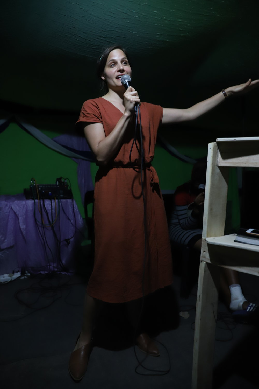 Silvia speaking in Gutshwa