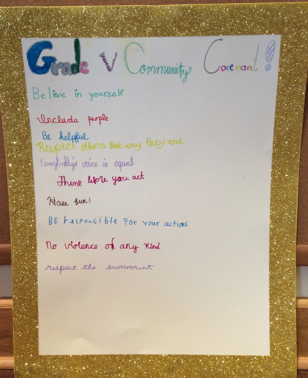 The Grade 5 Community Covenant