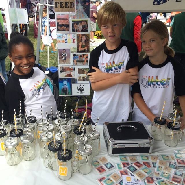 PJS Glitter Lemonade members raising funds at the Hopewell Harvest Fair