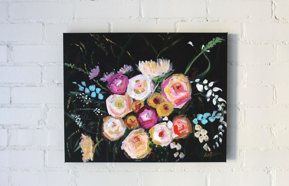 Peony Gardenia | 16in x 20in | SOLD