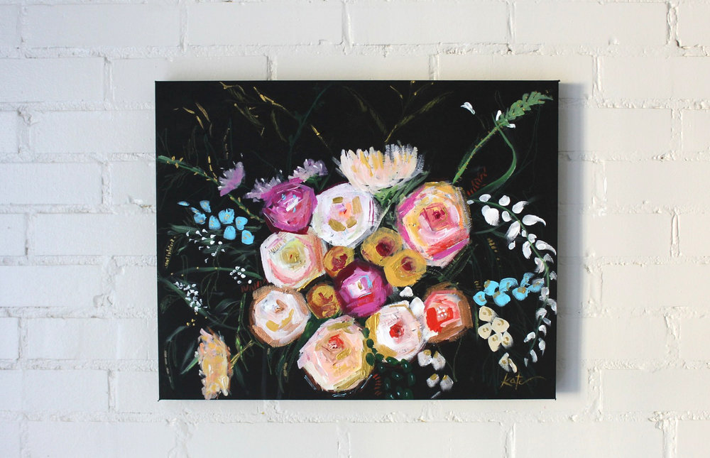 "Gardenia | 16"" x 20"" |SOLD"