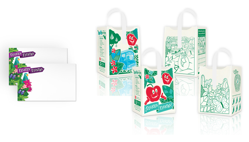 Price Cards and Apple Totes side 1 and side 2