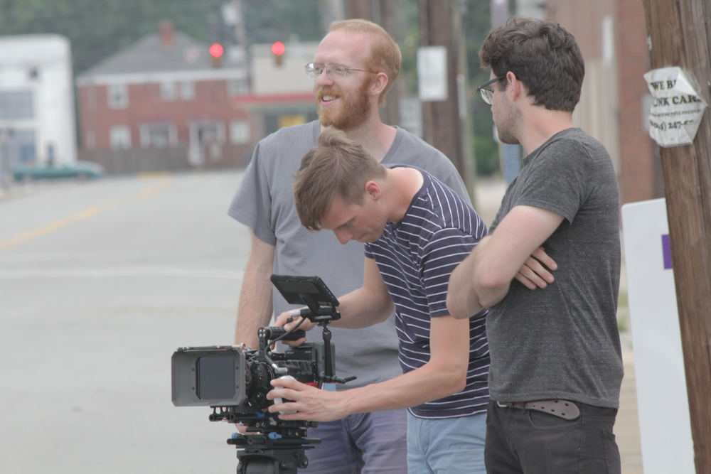 Drew Bolduc (director), William Robinette (director of photography) and Tommy Bell (Producer/Camera Operator)