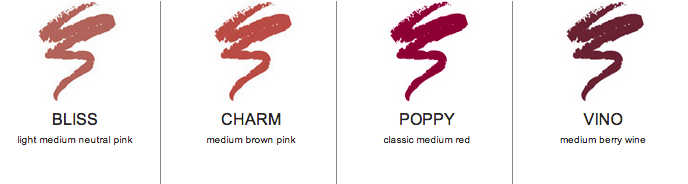 afterglow organic infused lip liner shades
