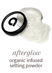 Afterglow organic infused setting powder