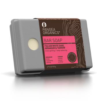 Pangea Organics Italian White Sage with Geranium and Yarrow Bar Soap