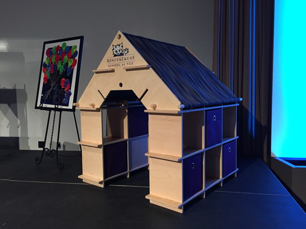 The convertible playhouse at the KinderFrogs auction in Feb 2016