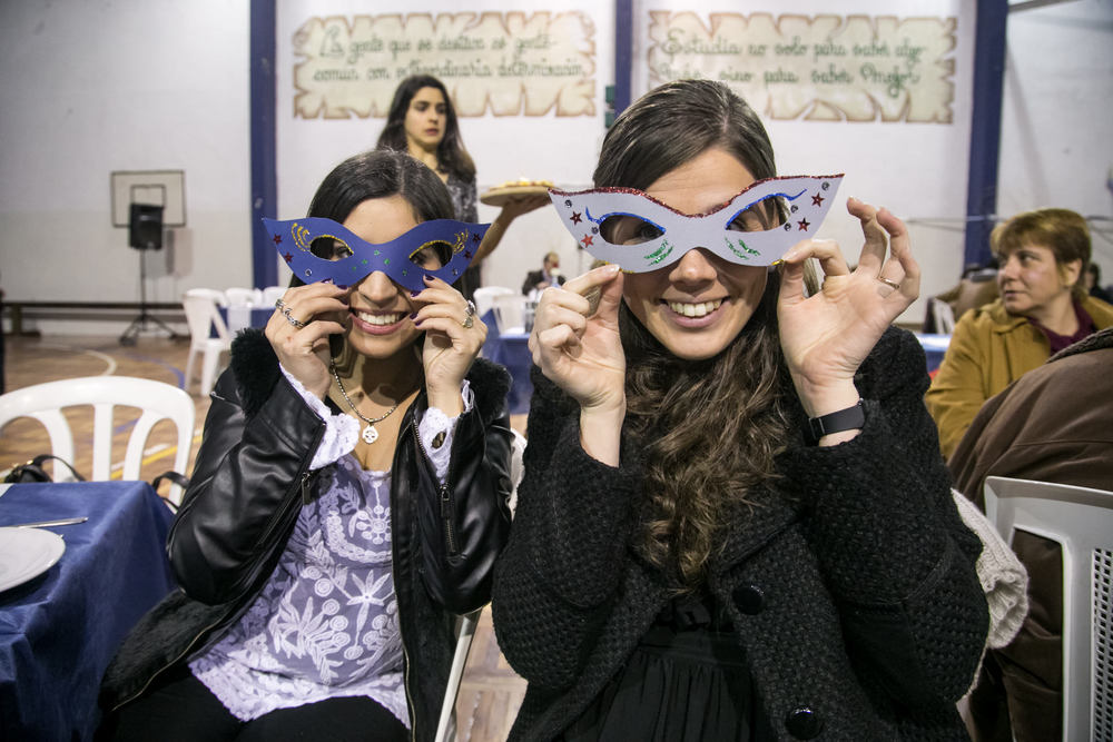 cena de ex-alumnos. Fotógrafo de Montevideo.