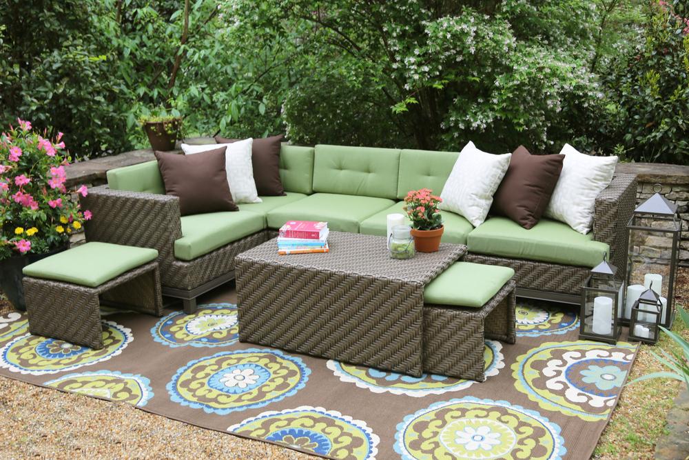 Beau Hampton 8 Piece Outdoor Sectional | AE Outdoor | Not Your Grandmau0027s Patio  Furniture | Green