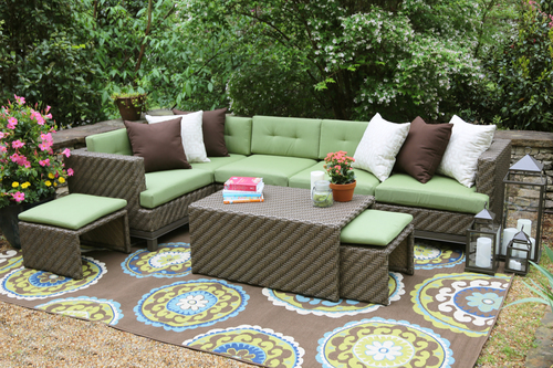 Hampton 8 Piece Outdoor Sectional | AE Outdoor | Not Your Grandma's Patio  Furniture | Green - Sectional Patio Furniture Our Designs