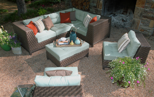 new! dawson 7pc sectional - 2 colors — ae outdoor