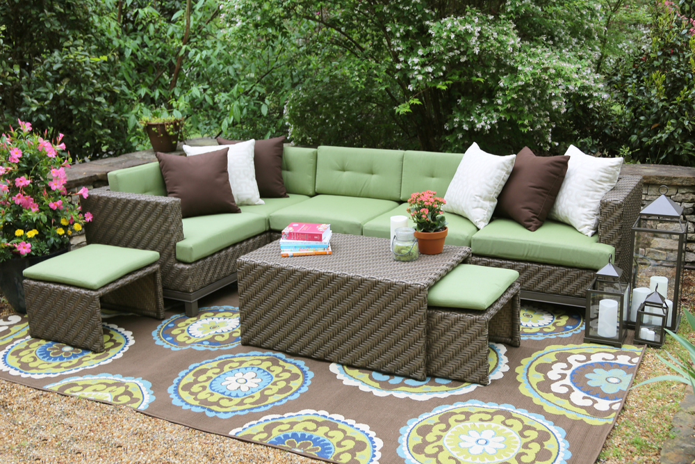 Hampton 8 Piece Outdoor Sectional | AE Outdoor | Not Your Grandma's Patio  Furniture | Green - Shop Patio Sets €� AE Outdoor