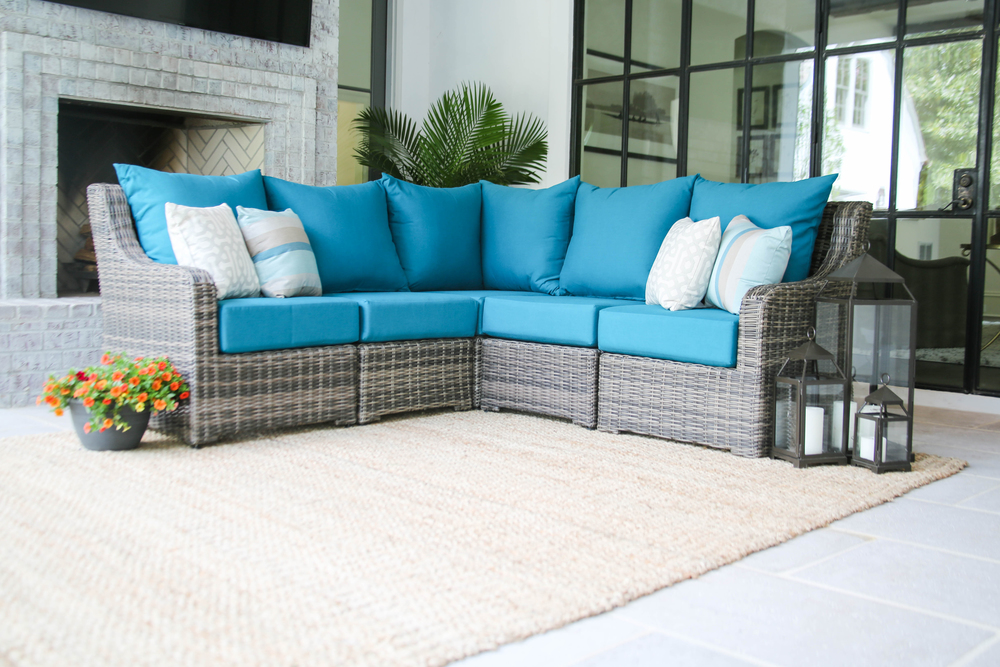 AE Outdoor Wright Outdoor Patio Furniture 5pc Sectional 11