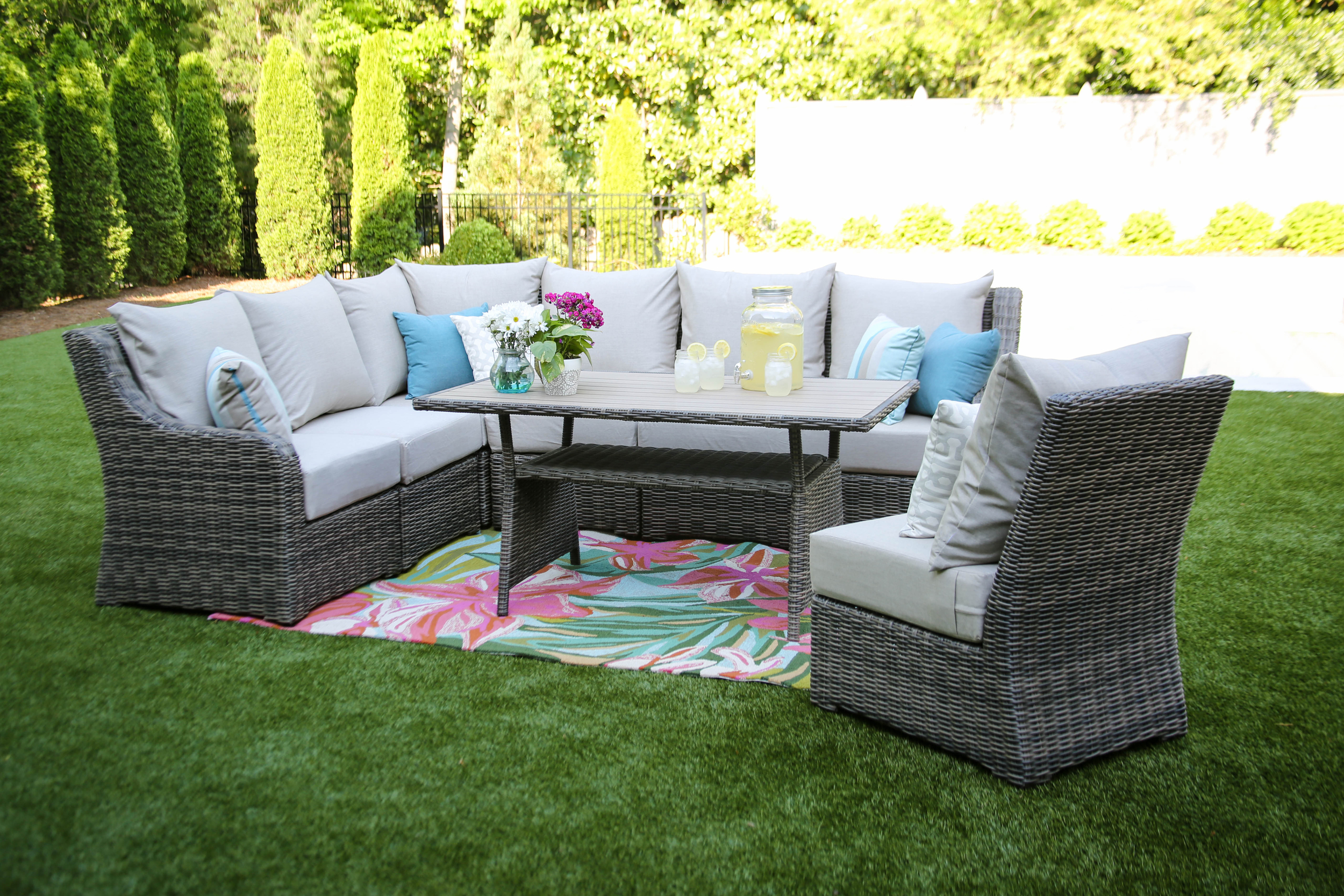 Cherry Hill 8pc Cocktail Sectional more colors — AE Outdoor