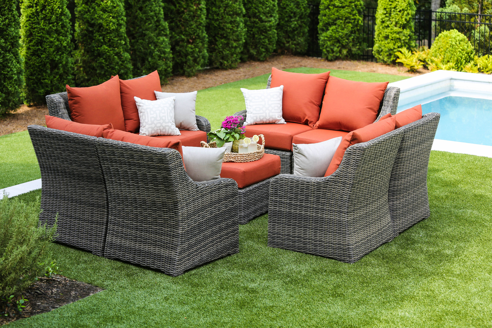 AE Outdoor Cherry Hill Outdoor Patio Furniture Configurations 9pc Deep  Seating Brick
