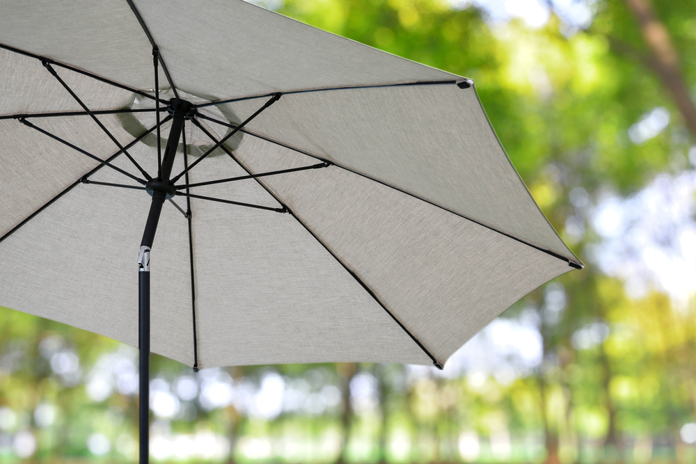 10ft Market Umbrellas AE Outdoor Patio Sunbrella Ash 2