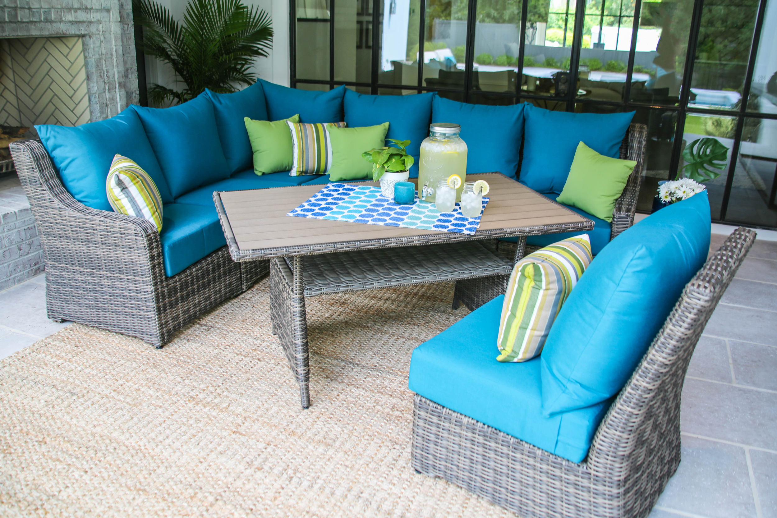 Cherry Hill 8pc Cocktail Sectional — AE Outdoor