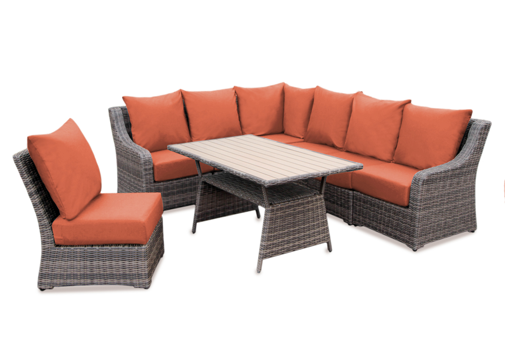 cherry hill 8pc cocktail sectional - Sectional Patio Furniture