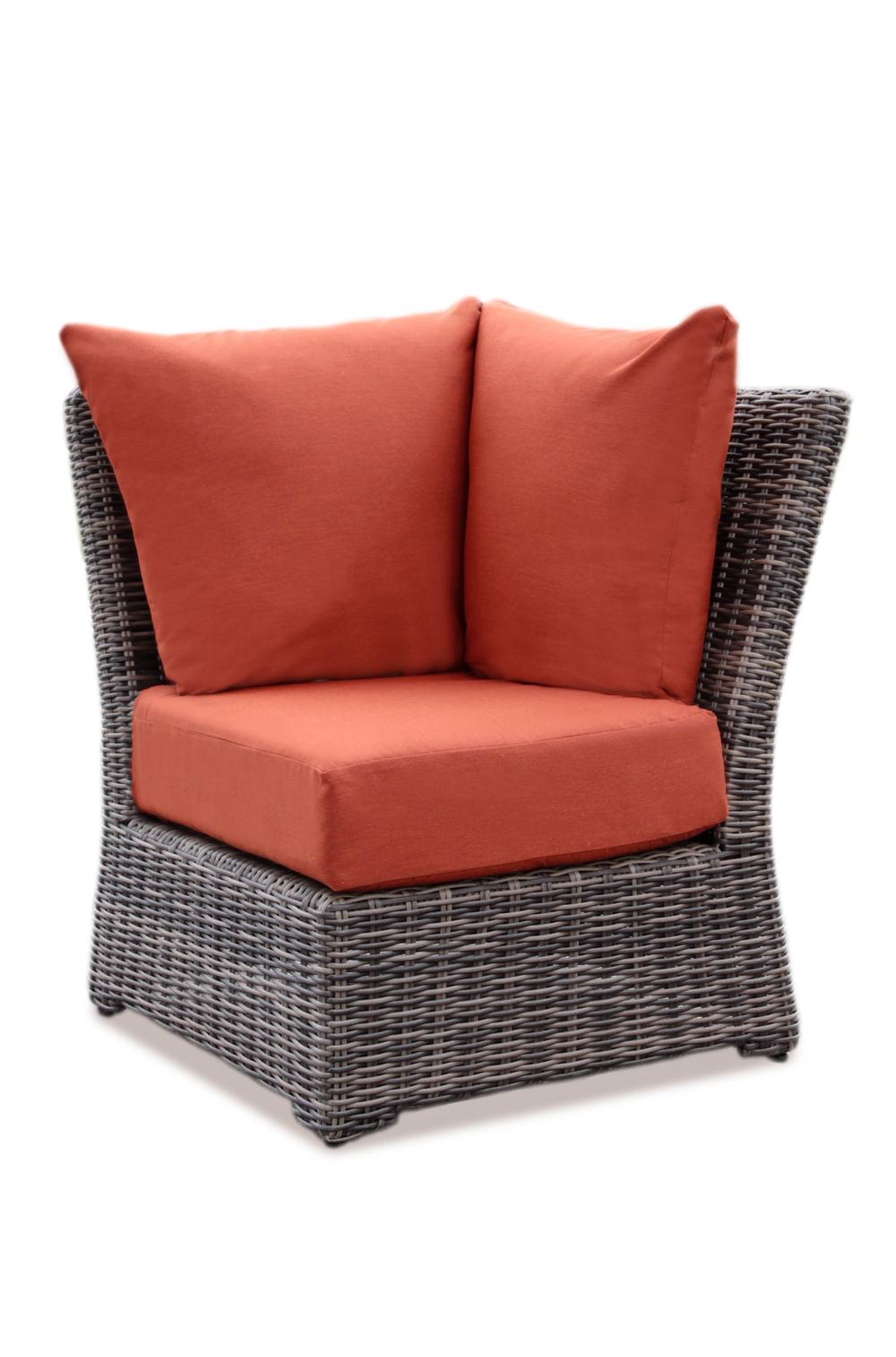 AE Outdoor Cherry Hill Outdoor Patio Furniture Modular Corner Brick ...