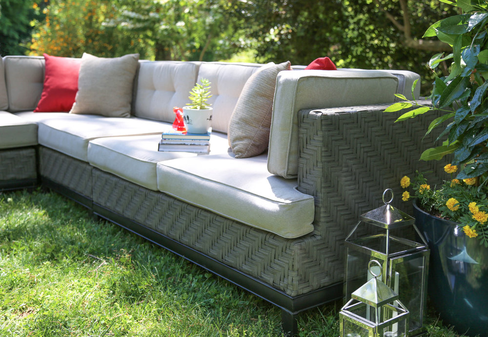 AE Outdoor Camilla Outdoor Patio Furniture Sectional 4
