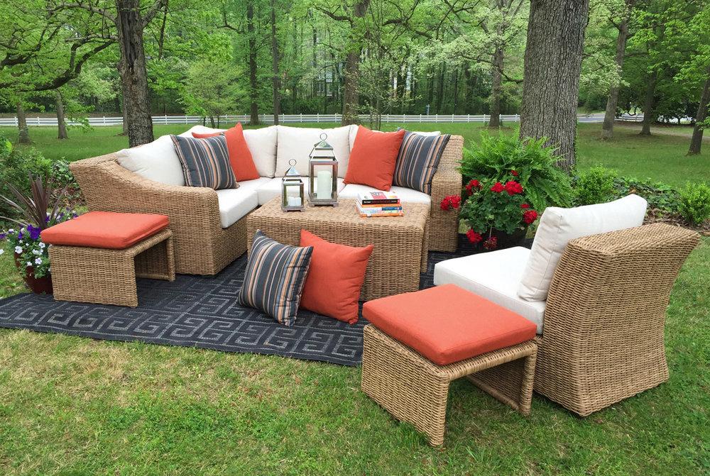 arizona 8pc sectional ae outdoor rh aeoutdoor com outdoor patio furniture arizona best outdoor furniture arizona