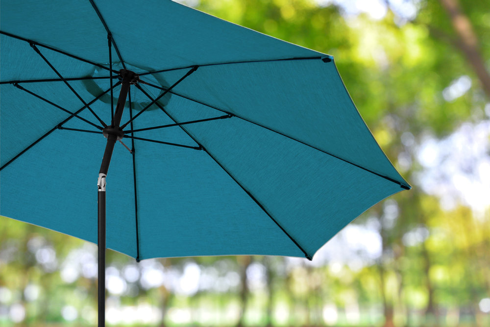 10ft Market Umbrellas AE Outdoor Patio Sunbrella Spectrum Cilantro 25 Dock  ...