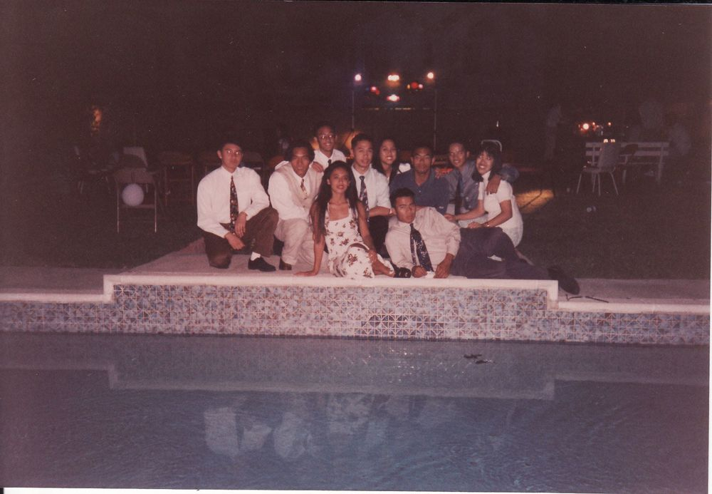 Spring 1994: President - Emilyn Neri, Normand Savellano, William Manalo, Reggie Dones, Alex Laspiñas, Haze Bunoan, Joan Cruz, David Macayaon, Rowena Ramos, Ronald Casino