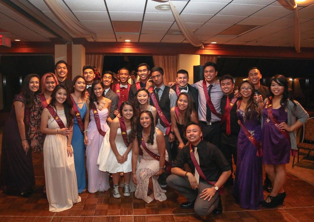 Fall 2015: President -Tawny Madrona, Internal Vice President - Lauren Navarro, External Vice President -Tim Giron, Secretary - Celina Saludas, Treasurer - Antonio Faustino Jr., FG Coordinators - John-Luke Taylor & Claire Imada, PCN Coordinator -Matt Martinez, PCN Dance Coordinator - Armyn Padilla, Community Advocacy Cultural Chair - Hansel Domingo, Academic Chair - Raynelle Boldivino, Social Chair - Sammy Salvador, Publicity Chair - Natalie Nuesca, Sports Coordinator - Gabriel Gonzolaz, Alumni Liaison - Razelyn Montalbo, Historian - Tyler Chow, IP Executive Director - Phong Ngo, IP Artistic Directors - Angela Natividad & Gordon Do, IP Captains - Kelsey Young & Jelli Torres, IP Secretary - Breanna Lanning, IP Financial Director -Dustin Sampang, IP Public Relations -Cindy Ngyuen, IP Media Director - Marc Deluna, IP Historian -Danielle Espinosa