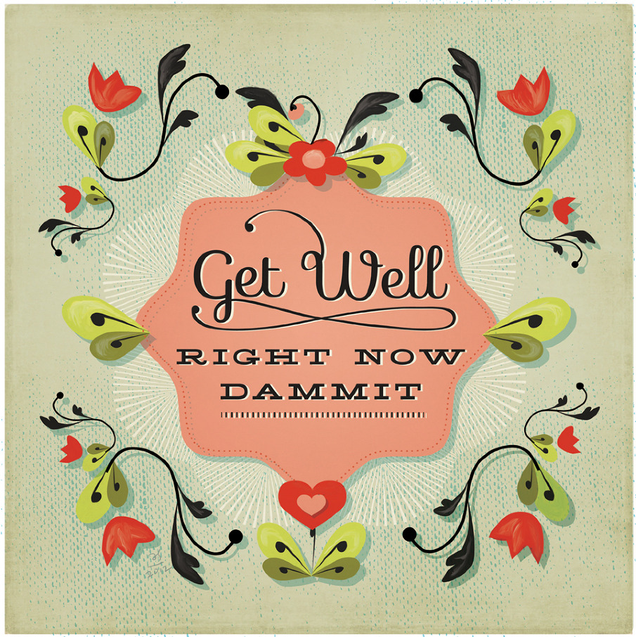 Get Well Greeting Card Amy Sullivan Illustration Design