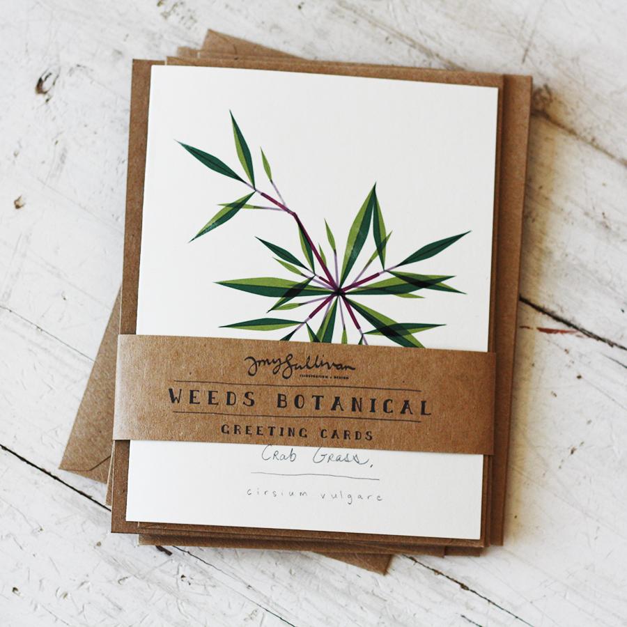 Weeds Botanical Greeting Cards Amy Sullivan Illustration Design