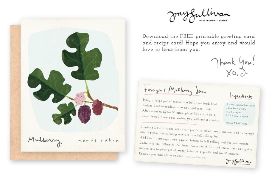 Click to download a free printable greeting card and recipe card!