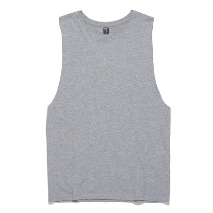 Mens Singlet - Grey Marle