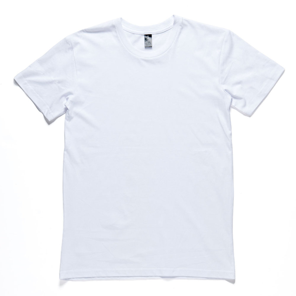 <b>Men's Crew Neck</b><br> <a href=http://dastshirtautomat.com/mens-sizes>Sizes & Colours</a>
