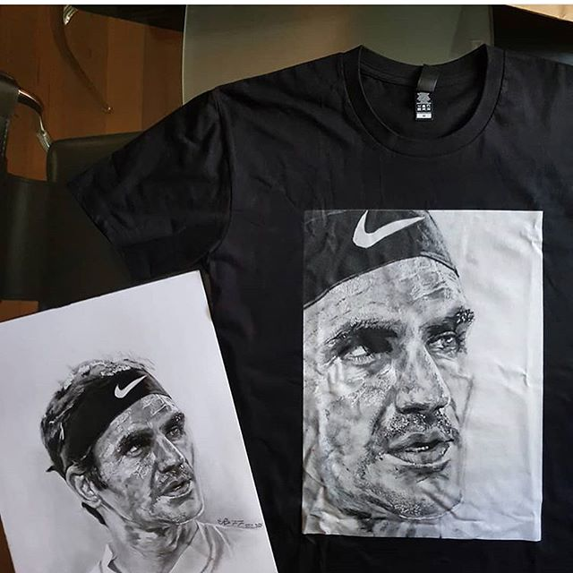 Just thought we'd re-gram this excellent sketch of Roger Federer by local artist @cs77artist that we printed on a T-shirt for him. Love your work. . . . . . #dasautomat #drawing #sketch #tennis #federer #prahran #fitzroy #footscray #printing #design #ascolour #melbourne #madeinmelbourne #rogerfederer