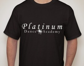Platinum Dance Academy T-shirt.  Orders must be placed by Friday, September 26th.  Delivery approximately 2 weeks or less.