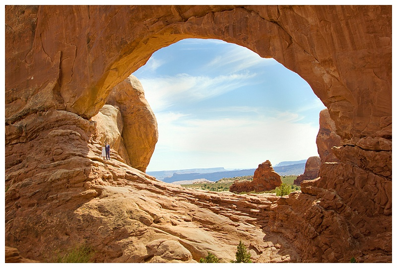 South Window in the Windows Section of Arches National Park. Wedding Photography for  Arches National Park