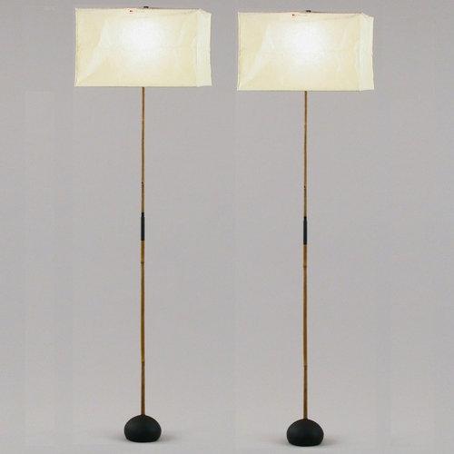 Akari Model BB3   X3 Floor Lamps by Isamu Noguchi — Two Enlighten