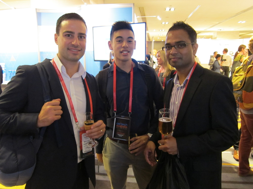 Michael Verghios, Maurice Thach Nimbull and Kopi Nadarajah HealthcareLink at ad:tech