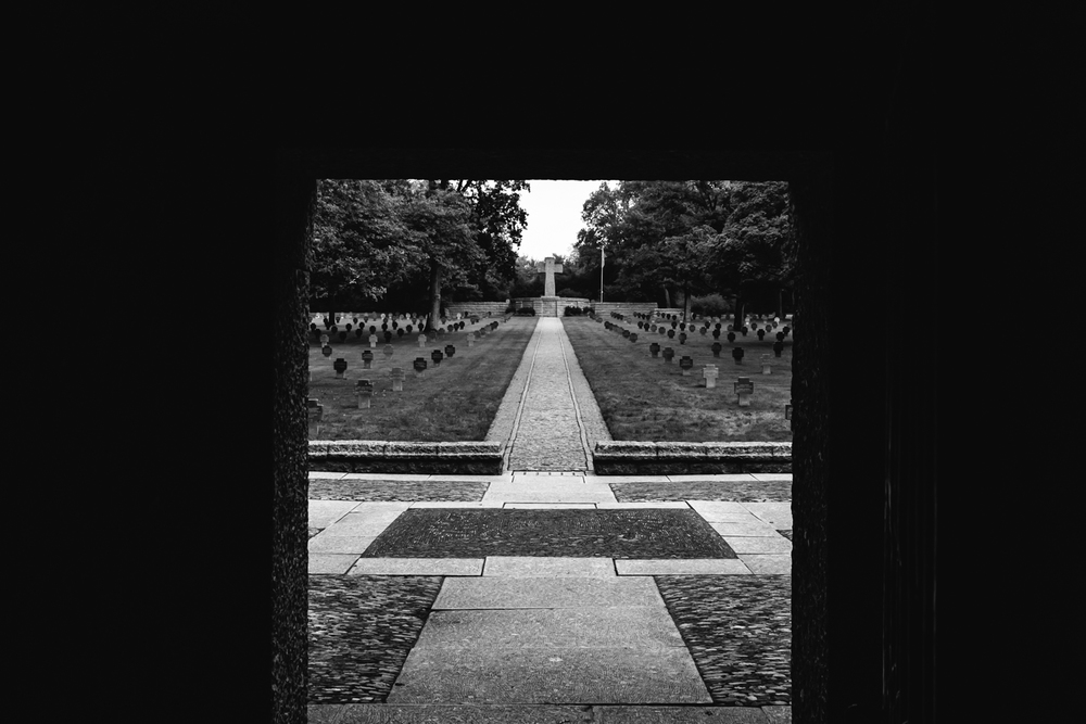 Entrance to the German cemetery.