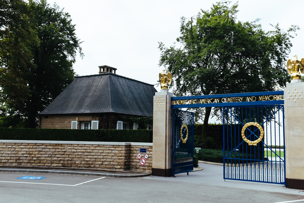 Entrance to the Luxembourg American Cemetery and Memorial