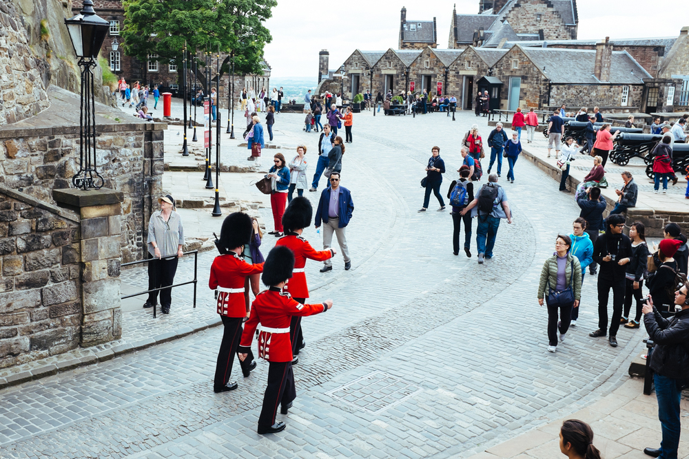 Make way for The Queen's Guard!  Edinburgh Castle