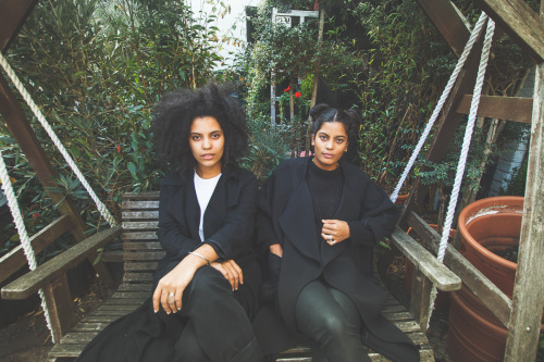 French-Cuban twin sisters Lisa-Kaindé and Naomi Diaz (Photos via The Guardian)