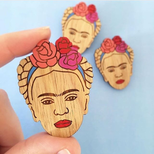 I still have some Frida's left, not in the shop so DM if you are after one 🌵🌺 brooch $26 #saintfrida