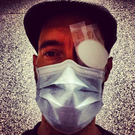 patch for the bleeding eye from injection, mask for the air outside. - Singapore