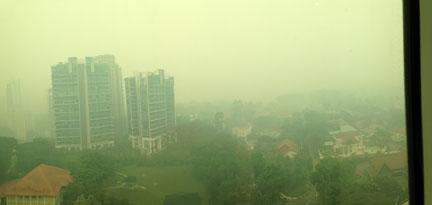 Outside smog. - Singapore