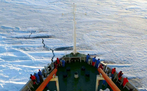 Chinese icebreaker  Xue Long . Photo courtesy AP.
